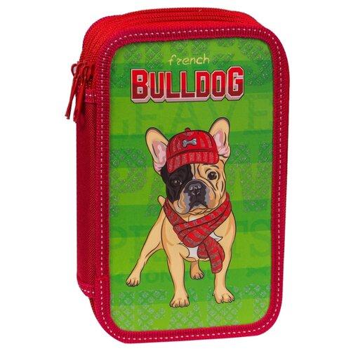 Купить ArtSpace Пенал Bulldog (61П25_3_23123) красный/зеленый, Пеналы