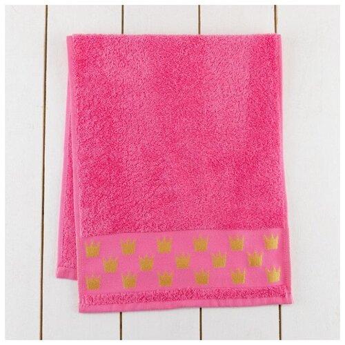 Этель полотенце Будь королевой для рук 30х70 см розовый