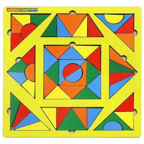 Купить Головоломка Woodland Калейдоскоп. Солнце (83405) желтый, Головоломки