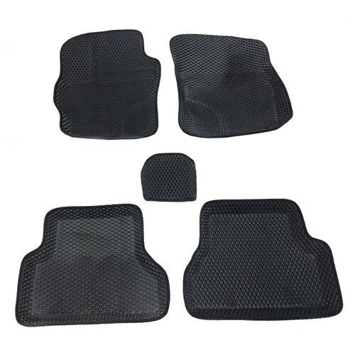 Комплект ковриков Boratex BRTX-10020 5 шт. черный