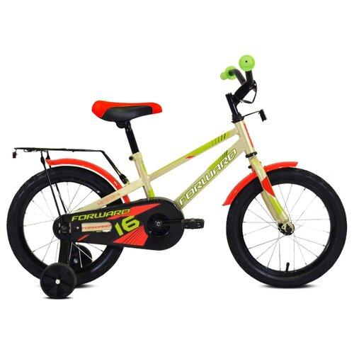 Детский велосипед FORWARD Meteor 16 (2020) серый/зеленый (требует финальной сборки)