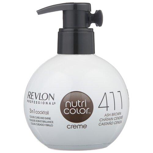 Крем Revlon Professional Nutri Color 3 in 1 cocktail 411 Ash Brown, 270 мл revlon крем краска nutri color creme 270 мл