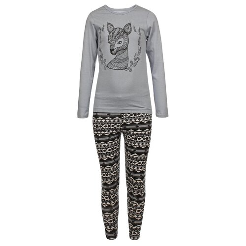 Комплект одежды M&D размер 116, серый/черный комплект черный magnetic alix m