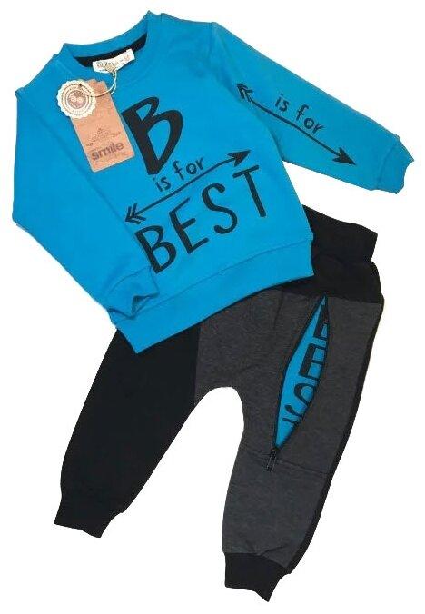 Спортивный костюм TEO & NIK размер 104, бирюзовый