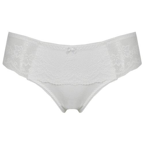 Alla Buone Трусы слипы с кружевными вставками по бокам и сзади, размер 5(50), белый