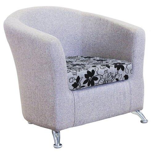 Классическое кресло Шарм-Дизайн Евро размер: 80х79 см, обивка: ткань, цвет: цветы
