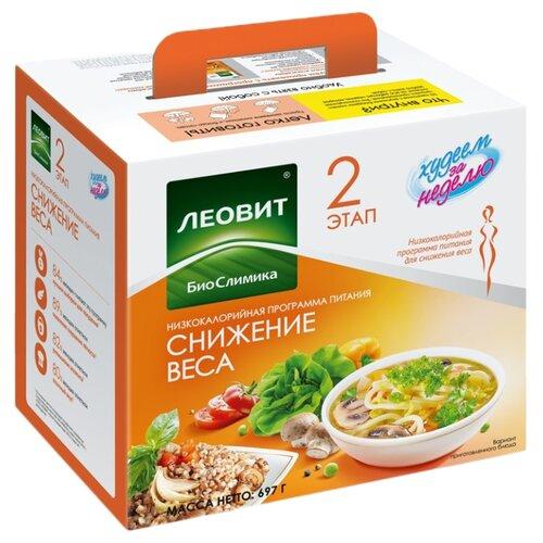 ЛЕОВИТ Худеем за неделю Программа Снижение веса, 697 г чай лимонник для тонуса 25 пакетов по 2 г упаковка 50 г худеем за неделю леовит