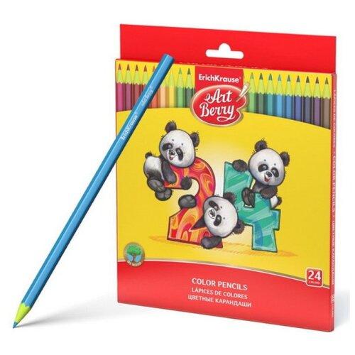 ErichKrause Пластиковые цветные карандаши шестигранные ArtBerry 24 цвета (47347) erichkrause пластиковые цветные карандаши шестигранные artberry 18 цветов 46429