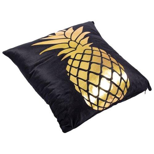 Чехол для подушки Русские подарки 76317, 45 х 45 см черный/золотой