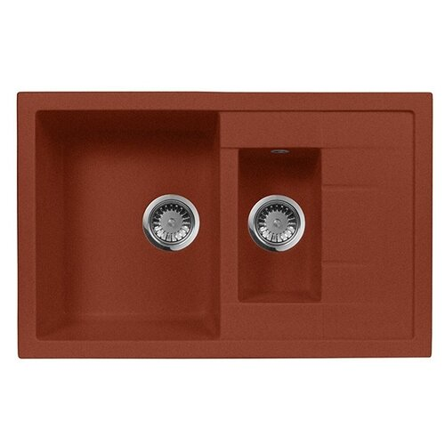 цена на Врезная кухонная мойка 78 см А-Гранит M-21K M-21K(334) красный марс