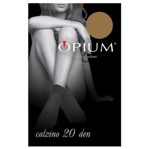 Капроновые носки Opium Calzino 20 den, размер one size, visone