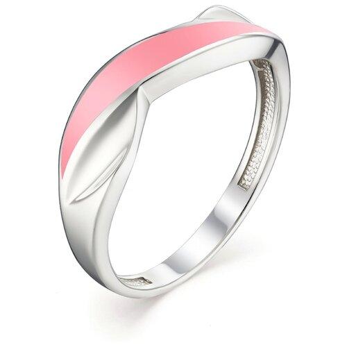 АЛЬКОР Кольцо с эмалью из серебра 01-1096-ЭМ58-00, размер 18 алькор кольцо с эмалью из серебра 01 1096 эм75 00 размер 18