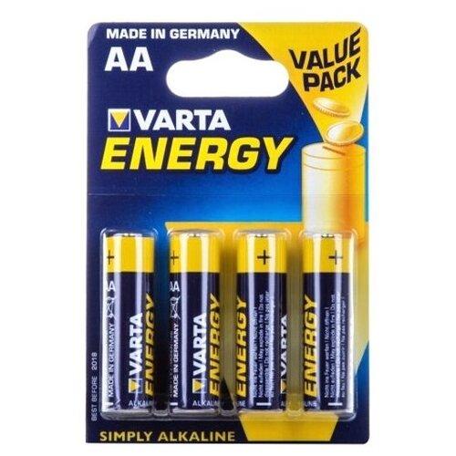 Фото - Батарейка AA щелочная Varta LR6-4BL Energy (4106) в блистере 4шт. батарейка varta energy aa 6 шт