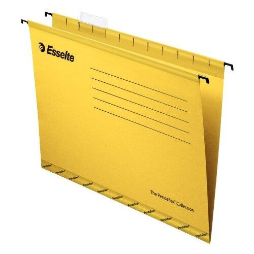 Esselte Папка подвесная Pendaflex plus foolscap А4+, картон, 25 шт желтый, Файлы и папки  - купить со скидкой