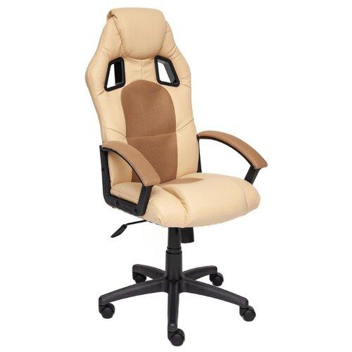 Компьютерное кресло TetChair Драйвер игровое, обивка: текстиль/искусственная кожа, цвет: бежевый/бронзозый компьютерное кресло tetchair runner игровое обивка текстиль искусственная кожа цвет черный желтый