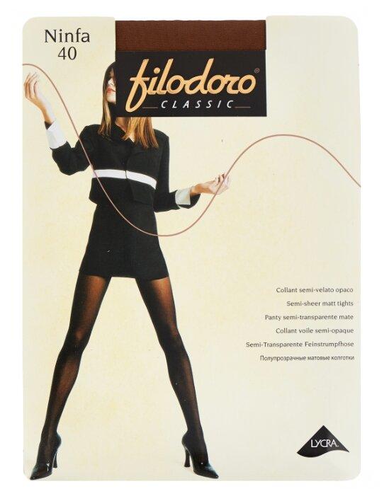 Купить Колготки Filodoro Classic Ninfa 40 den, размер 5-XL, abbronzante (коричневый) по низкой цене с доставкой из Яндекс.Маркета