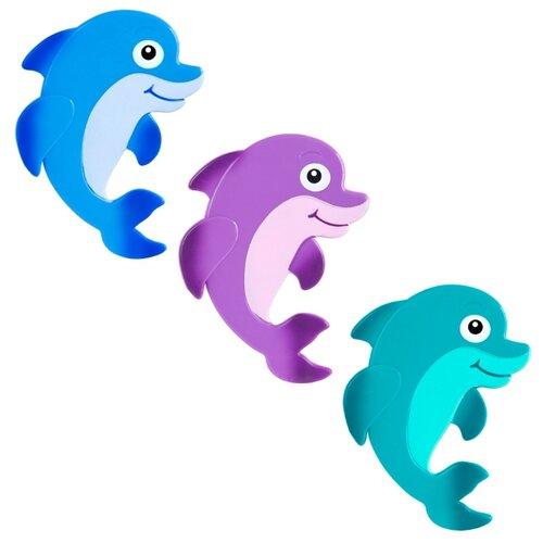 Коврик для ванной Valiant Дельфиненок синий/голубой/фиолетовый/красный коврик для ванной valiant valiant mp002xu02laf