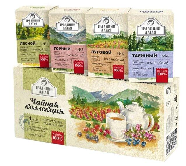 Чайный напиток травяной Алтэя Чайная коллекция подарочный набор — купить по выгодной цене на Яндекс.Маркете