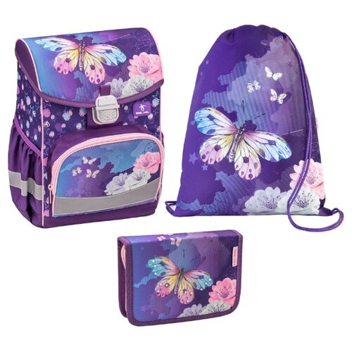 Belmil Ранец Click My butterfly с наполнением (405-45/857/SET), фиолетовый