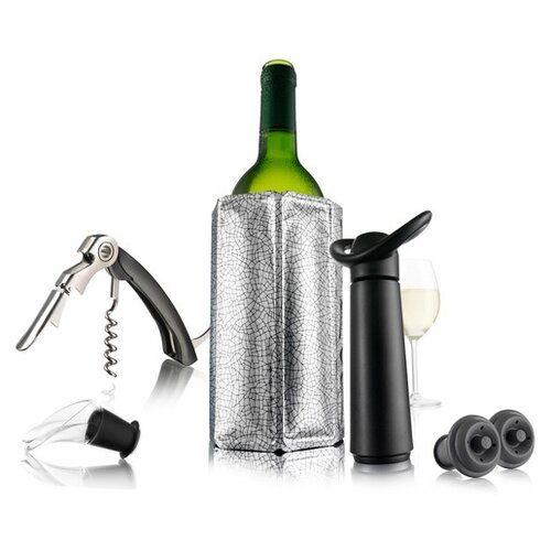 Фото - Набор аксессуаров VacuVin Wine Essentials, черный/серый подарочный набор giftset wine essentials 6 пр 6889060 vacuvin