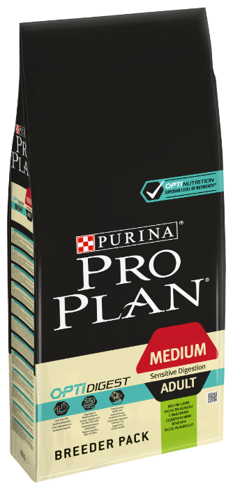 Корм для собак Purina Pro Plan Optidigest ягненок с рисом 18 кг (для средних пород)