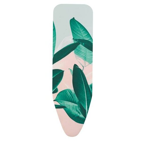 Чехол для гладильной доски Brabantia PerfectFit B с фетром и поролоном 124х38 см Тропические листья гладильная доска 124х45 см тропические листья 118463 brabantia
