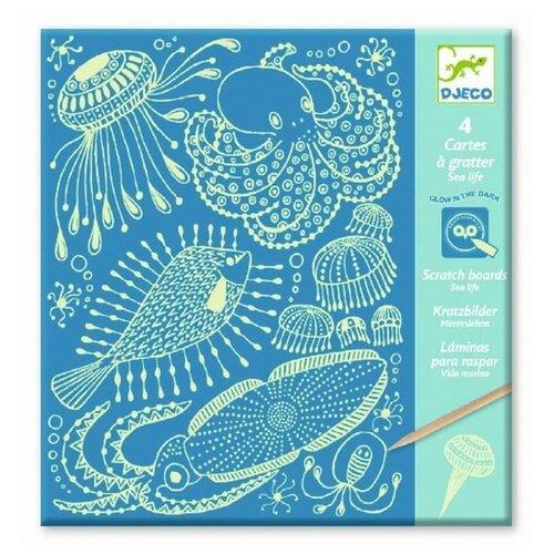 Гравюра DJECO Морская жизнь (09729) белая основа printio морская жизнь