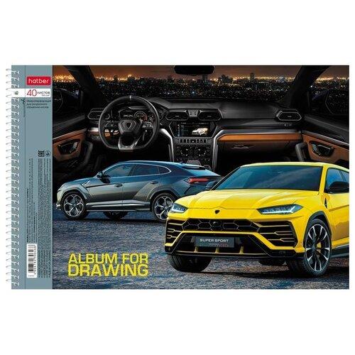 Альбом для рисования Hatber АвтоЛюкс 29.7 х 21 см (A4), 100 г/м², 40 л. braun bt 5050 черный