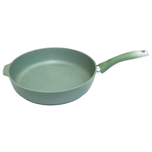 Сковорода Kukmara Мраморная 281а 28 см, фисташковый frying pan kukmara marble фисташковый marble 22 cm