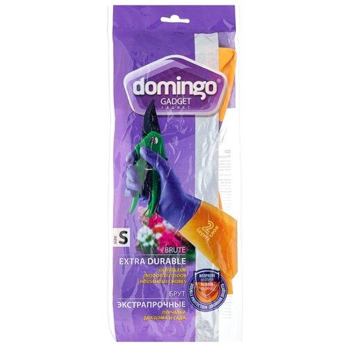 Перчатки DOMINGO Gadget Brute экстрапрочные, 1 пара, размер S, цвет фиолетовый/оранжевый