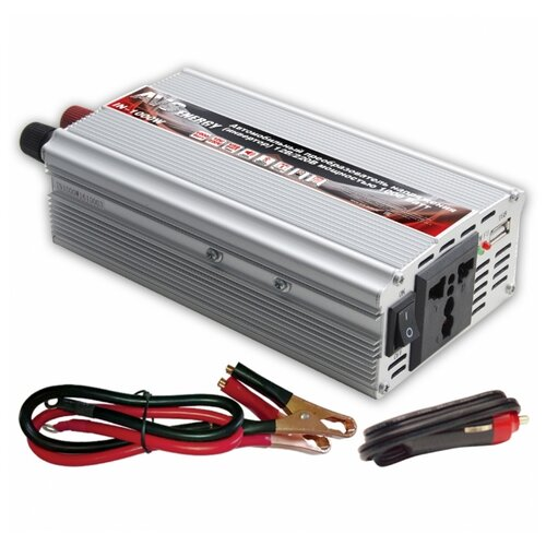 Инвертор AVS IN-1000W серебристый