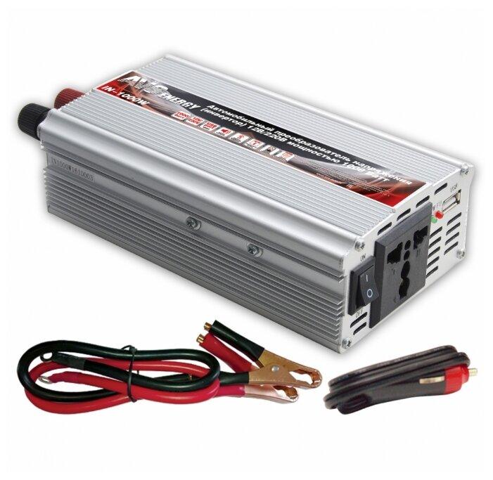 Автомобильный инвертор AVS Energy 12/220V IN-1000W