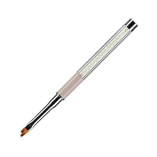 Кисть фигурная с декоративной ручкой №04 Рельеф Irisk Professional белый