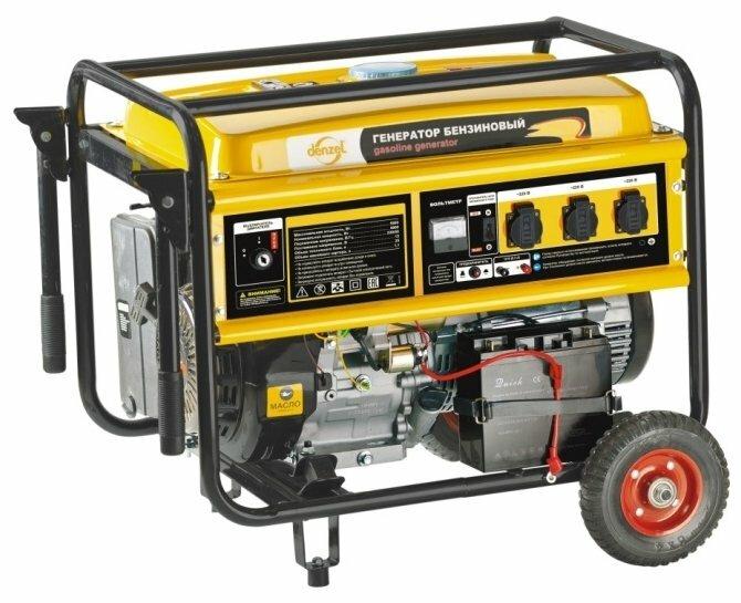 Бензиновая электростанция Denzel GE8900E