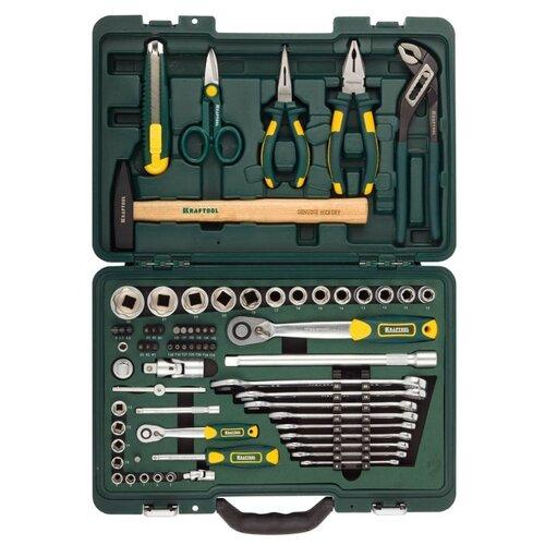 Набор инструментов Kraftool (70 предм.) 27977-H70 зеленый набор инструментов kraftool 70 предметов industry 27977 h70