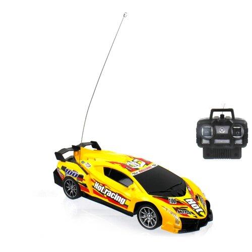 Купить Гоночная машина 1 TOY Спортавто (T13842/T13843/T13844) 1:24 20 см желтый, Радиоуправляемые игрушки