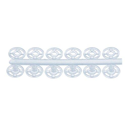 Купить KOH-I-NOOR Кнопки пришивные (MIA1020 №1/2), белый, 7 мм, 24 шт.