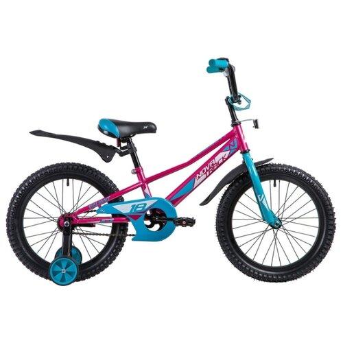Детский велосипед Novatrack Valiant 18 (2019) фуксия (требует финальной сборки) велосипед novatrack valiant черный 20