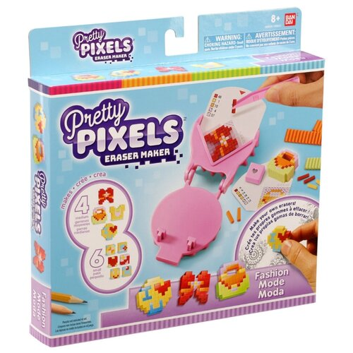 Bandai Pretty Pixels Студия для создания фигурных ластиков Мода (38521) pretty pixels студия для создания фигурных ластиков любимые увлечения розовый