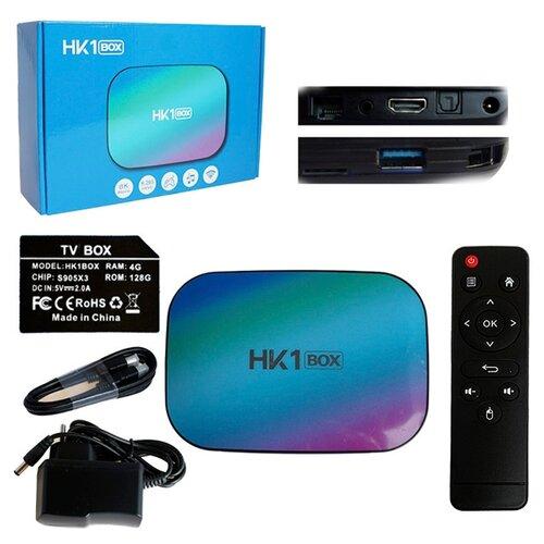 Фото - Медиа-приставка HK1 Box - 4Gb/128Gb Android 9,0 Медиаплеер Smart tv IPTV OTT приставка 4K HD H.265 enohplx dm98 smart watch mtk6572 2 2 inch hd ips led screen 900mah battery 512mb ram 4gb rom android 4 4 os 3g wcdma gps wifi