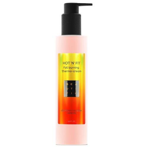 BEAUTIFIC крем Hot 'N' Fit термоактивный для похудения с эссенцией грейпфрута, гуараной и карнитином 200 мл