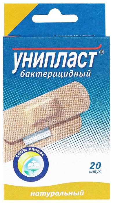 Унипласт пластырь бактерицидный натуральный, 1.9x7.2 см, 20 шт.