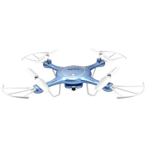 Квадрокоптер Syma X5UW голубой квадрокоптер syma x5uw d