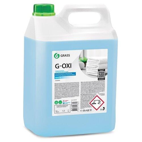 Grass Пятновыводитель - отбеливатель G-OXI gel для белых тканей, 5 л пятновыводитель отбеливатель grass g oxi gel для белых тканей с активных кислородом 500 мл