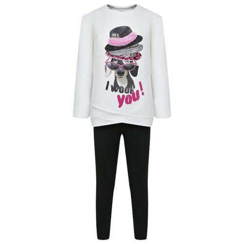 Купить Комплект одежды Mayoral размер 128, кремовый/черный, Комплекты и форма