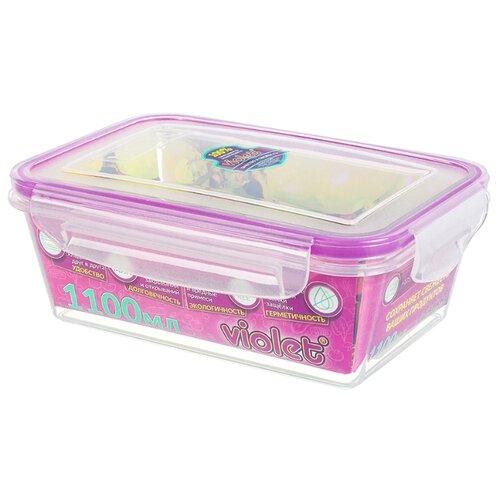 Violet Контейнер 093/11 1.1 л розовый по цене 184
