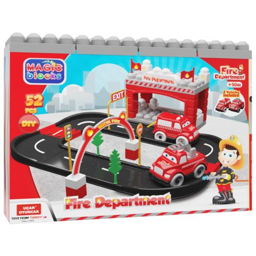 Купить Terides Пожарная станция Т6-094 черный/красный/серый, Детские парковки и гаражи