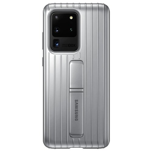 Чехол-накладка Samsung EF-RG988 для Galaxy S20 Ultra, Galaxy S20 Ultra 5G серебристый чехол накладка samsung ef pg988 для galaxy s20 ultra galaxy s20 ultra 5g серый