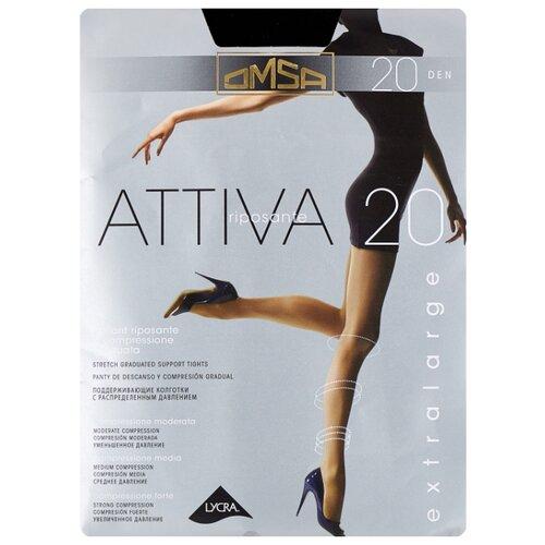 Колготки Omsa Attiva XXL 20 den, размер 6-XXL, nero (черный) колготки omsa attiva 20 den размер 2 s nero черный