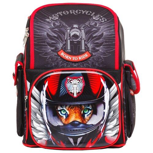 Hatber Рюкзак Comfort school Moto-beast NRk_33067, черный/красный набор тетрадей hatber классика 12т5в2